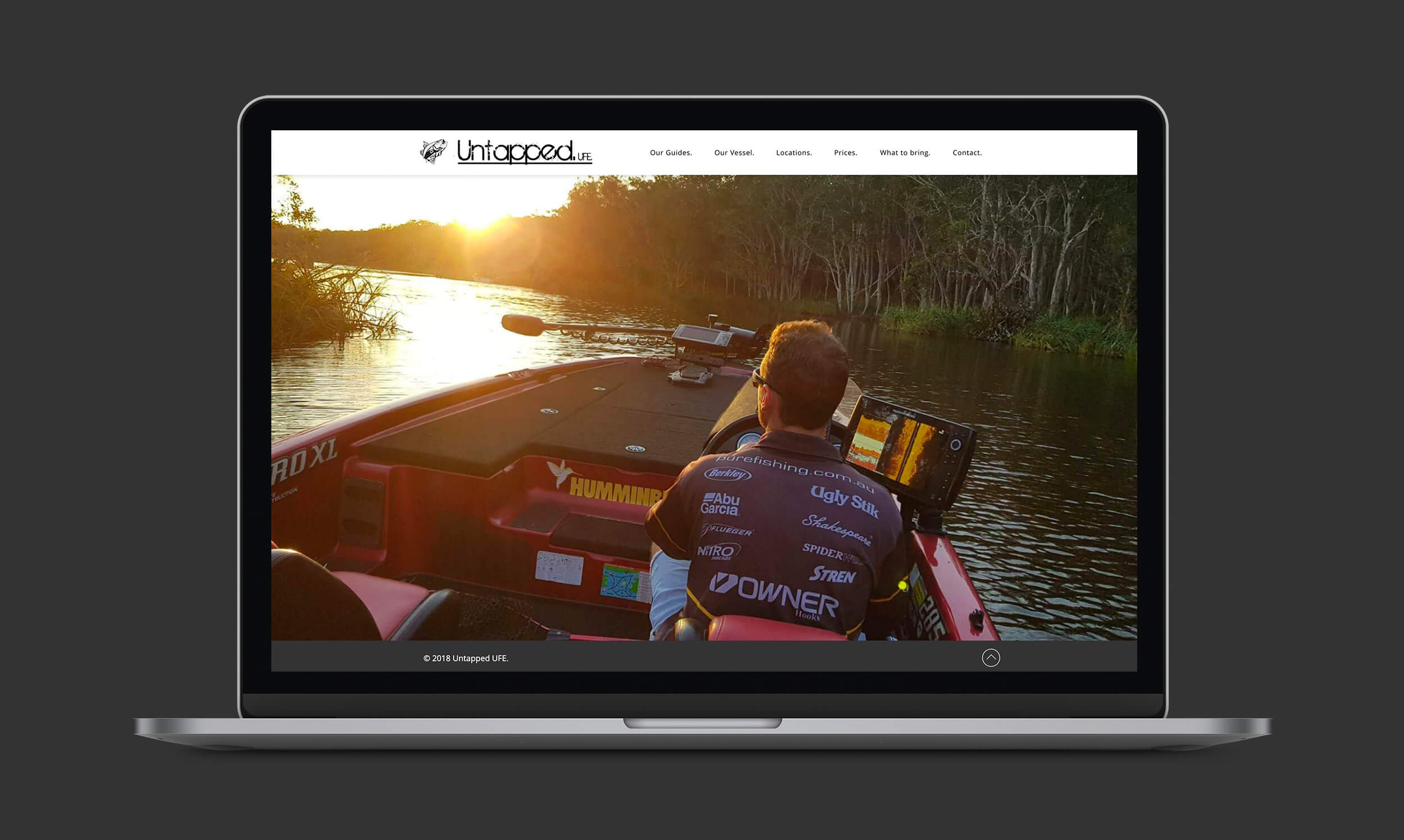 Untapped Fishing Expeditions website design preview