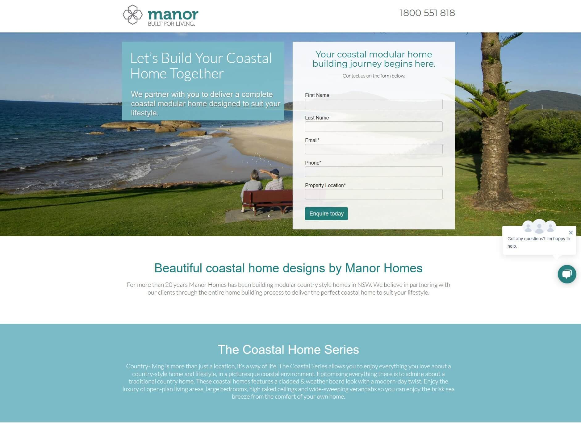 Manor Homes Squeeze Page