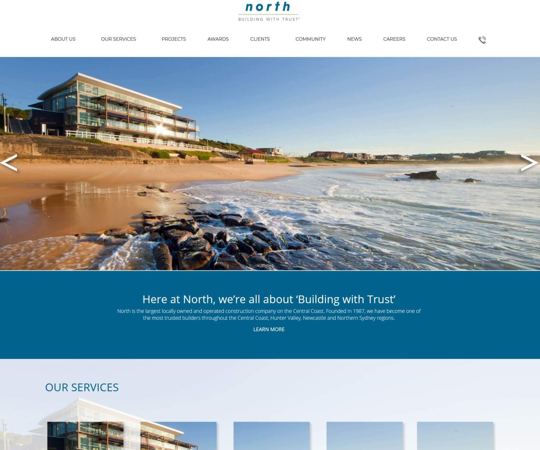 North Construction Website